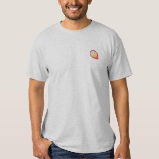 燃えるような野球 刺繍入りTシャツ