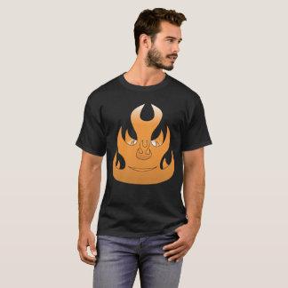 燃えるような顔 Tシャツ