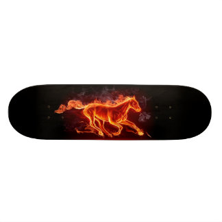 燃えるような馬のスケートボード 20CM スケートボードデッキ