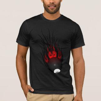 燃えるような8ボール Tシャツ