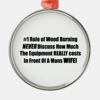 燃える木の#1規則は決してかどの位論議しません メタルオーナメント