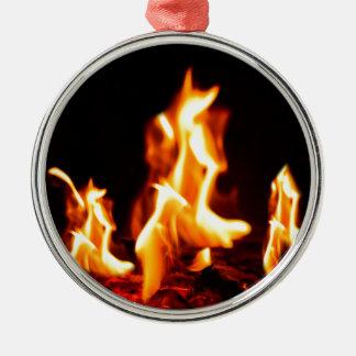 燃える炎 メタルオーナメント