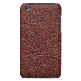 燃える赤茶色ウシの血の革微粒子 Case-Mate iPod TOUCH ケース