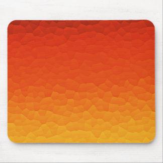 燃える金ゴールドのグラデーションなパチパチ鳴る音パターンにオレンジ赤 マウスパッド