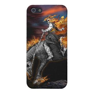 燃えるBroncobuster iPhone SE/5/5sケース
