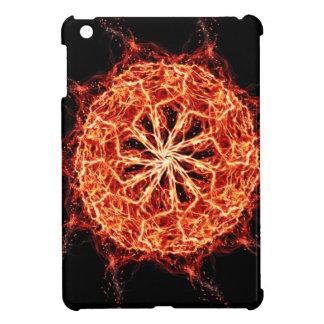 燃え立つ非常に熱い万華鏡のように千変万化するパターンは上がりました iPad MINI カバー
