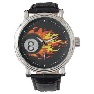 燃え立つ8球 腕時計