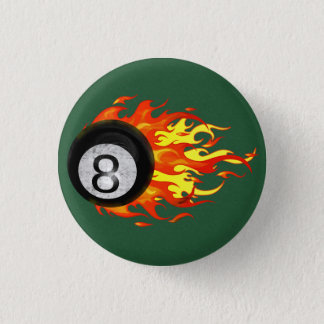 燃え立つ8球 3.2CM 丸型バッジ
