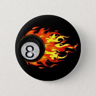 燃え立つ8球 5.7CM 丸型バッジ