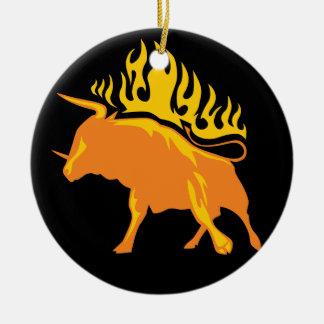 燃え立つBull #4 セラミックオーナメント