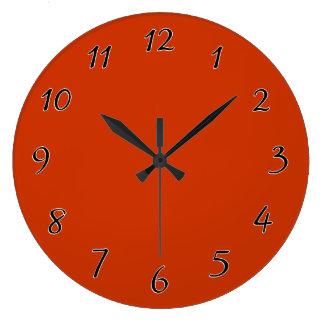 燃やされたオレンジテンプレート ラージ壁時計