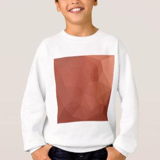 燃やされたシエナ土のオレンジの抽象芸術の低い多角形Backgroun スウェットシャツ