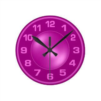 燃やされたピンクの柱時計 ラウンド壁時計