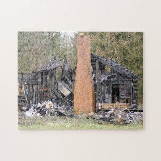 燃やされた家のパズル ジグソーパズル