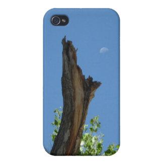 燃やされた木Rising_singles_blue上の月 iPhone 4/4Sケース
