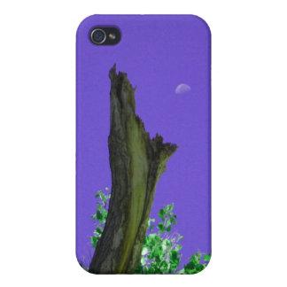 燃やされた木Rising_singles_purple上の月 iPhone 4/4Sケース
