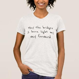 燃やされた橋Tシャツ Tシャツ