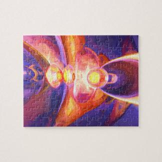 燃焼によって絵を描かれる抽象芸術 ジグソーパズル