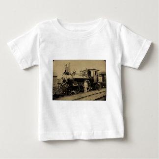 燧石及びPere Marquetteの鉄道エンジン# 11セピア色 ベビーTシャツ