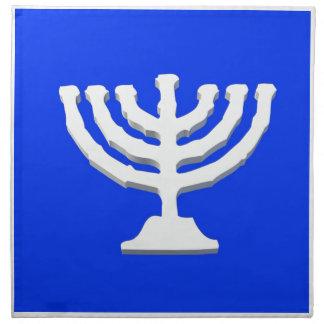 燭台のヤムルカの(ユダヤ教)メノラーの宗教イスラエル共和国 布製ナプキン
