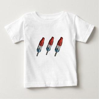 爆弾のアイスキャンデーのポップアートのTシャツ ベビーTシャツ