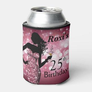 爆弾のグリッターのきらきら光るな輝きの誕生日|の藤色 缶クーラー