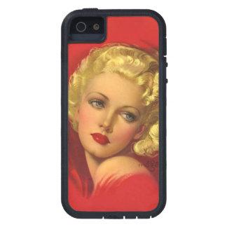 爆弾の悪い女の子のレトロはPin持ち上げます iPhone SE/5/5s ケース