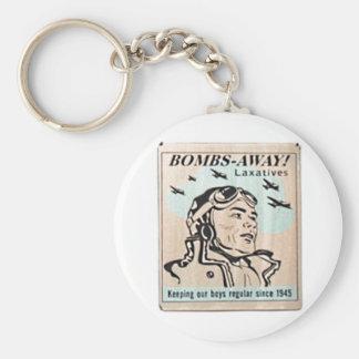 爆弾の遠くにな瀉下薬-ヴィンテージ1950の印Keychain キーホルダー