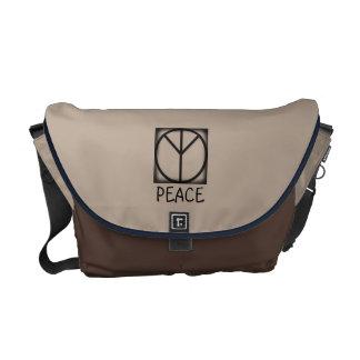 爆弾平和印を禁止して下さい メッセンジャーバッグ