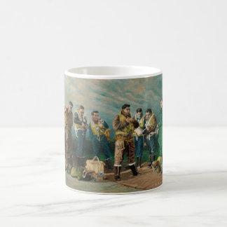 爆撃機の男の子のマグ コーヒーマグカップ