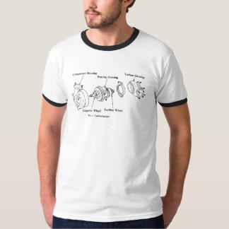 爆発されたターボチャージャーの図表 Tシャツ