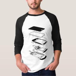 爆発された3GS電話 Tシャツ
