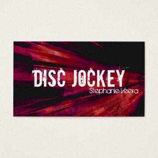 爆発のディスクジョッキーの音楽業界カード-赤 名刺