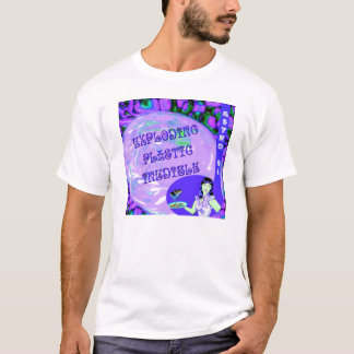 爆発のプラスチックInedible Tシャツ