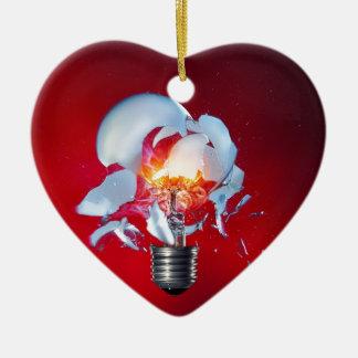 爆発の電球 セラミックオーナメント
