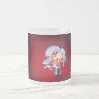 爆発の電球 フロストグラスマグカップ
