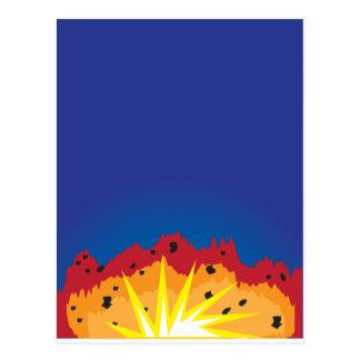 爆発 ポストカード