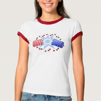 爆竹のグラフィックのTシャツ Tシャツ