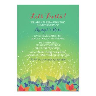 爆竹のフェスタの招待状 カード