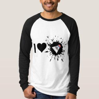爆薬I愛バドミントン Tシャツ