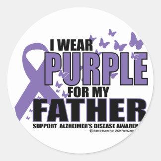 父のためのAlzheimersの紫色 ラウンドシール
