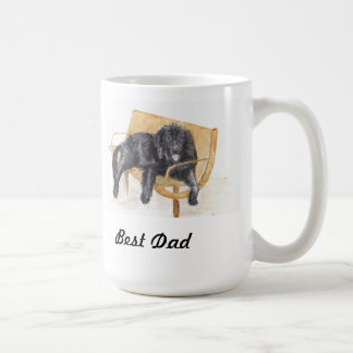 父のパパのニューファウンドランド犬のマグは引き起こります コーヒーマグカップ