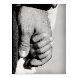 父の信頼の保護愛 ポストカード