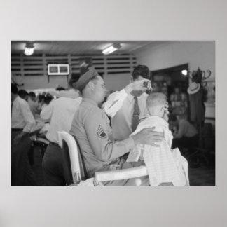 父の息子の理容師の経験の40年代 ポスター