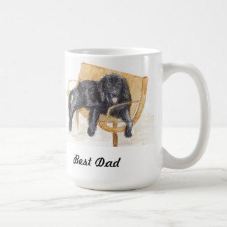 父の日のニューファウンドランド犬のマグ コーヒーマグカップ