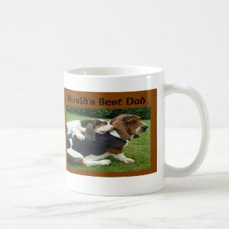 父の日のバセットハウンドの世界で最も最高のなパパ コーヒーマグカップ