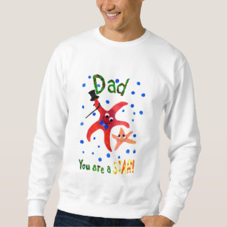 父の日のパパのためのヒトデのスエットシャツ スウェットシャツ