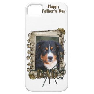 父の日のパパの石の足-バーニーズ・マウンテン・ドッグ iPhone SE/5/5s ケース