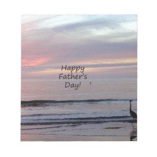 父の日のビーチの鷲 ノートパッド
