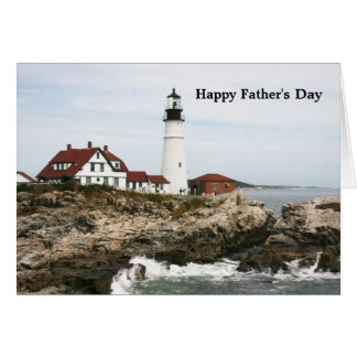 父の日-ポートランド灯台 カード